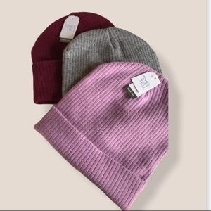 NWT Time and Tru solid beanie hats